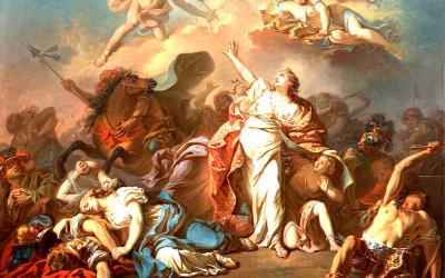 Diana & Apollo Killing Niobe's Children by Jacques Louis David